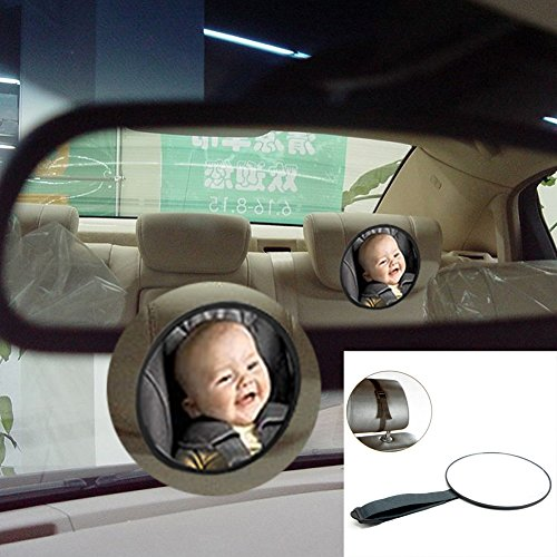 Follicomfy Adjustable Baby Car Mirror Back Seat Safety View Rear Ward Kids Infant Reverse Safety Seats - 85 Tint Sunglasses