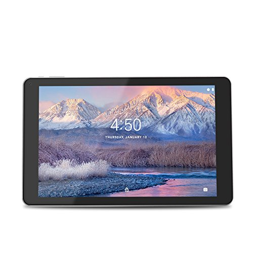 YUNTAB 10.1 inch Android Tablet, Allwinner A64 Quad Core Processor, 16GB Storage, IPS Touch Screen, with WiFi and Dual Camera(Silver)