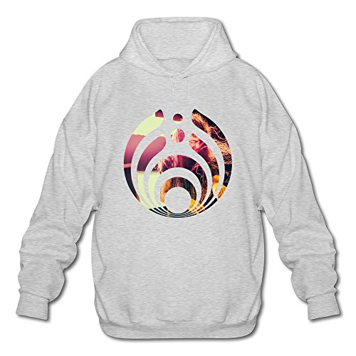 (JeFF Men's Bassnectar Lorin Ashton DJ Long Sleeve Sweatshirt Hoodies Ash X-Large (US)