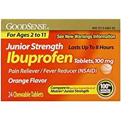 GoodSense Junior Strength Ibuprofen Pain Reliever/Fever Reducer Tablets, 100 mg, 24 Count