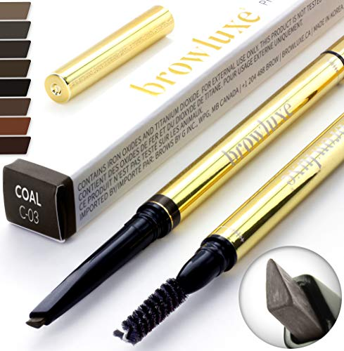 Eyebrow Pencil: Best Brow Pen Makeup Pencils & Spoolie Brush For ALL Eye Brows (COAL) In 8 Hair COLOR of Waterproof Brown, Blonde, Black, Gray & Light Red Tint Kit. By Pro Microblading Women Stylist