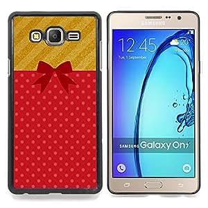 Stuss Case / Funda Carcasa protectora - Regalo Regalo de cumpleaños Símbolo Bow - Samsung Galaxy On7 O7