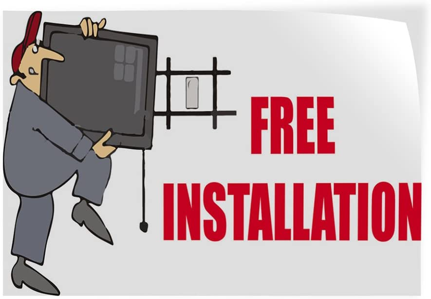27inx18in Set of 5 Decal Sticker Multiple Sizes Free Installation Business Free Installations Outdoor Store Sign White