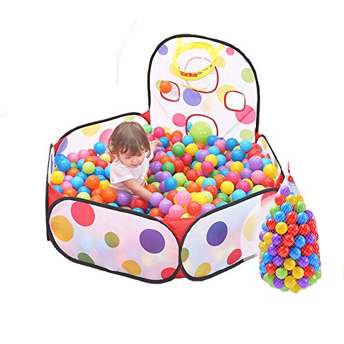 Remeehi Foldable Playpen Children Portable Foldable Playpen Ball Pit Pool Kids Playground Great Fun Outdoor Indoor by Remeehi