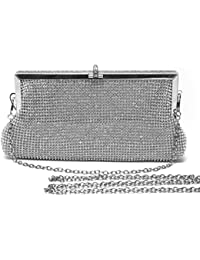 Amazon.com: Silver - Evening Bags / Handbags & Wallets: Clothing ...