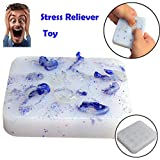 Tiean Squeeze Acne Toys Peach Pimple Popping Novelty Toy Luminous Popper Remover (Blue)