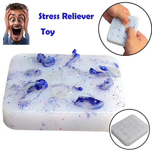 Tiean Squeeze Acne Toys Peach Pimple Popping Novelty Toy Luminous Popper Remover (Blue) by Tiean