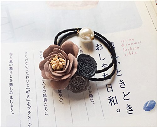 (Coincides with flowers) Japan South Korea's foreign trade Sen female literary retro sweet bud hair circle hair accessories for women girl lady