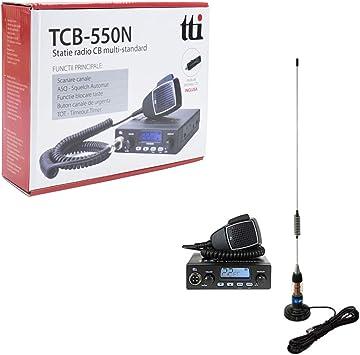 Radio CB TTi TCB-550 + Antena PNI Extra 45: Amazon.es: Coche ...