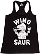 Shop4Ever® Wino Saur Women's Racerback Tank Top Funny Tank Tops