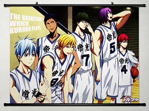 Home Decor Anime The Basketball Which Kuroko Plays Cosplay Wall Scroll Poster Kuroko Tetsuya Teiko High School Basketball Team 23.6 X 17.7 Inches-079