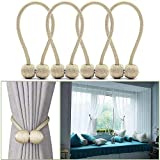 curtain tie back ideas YIDIE 4 Pieces Curtain Tiebacks,Classic Strong Magnetic Window Holdbacks,Home Office Decorative Drapes Holders,Beige/2 Pair