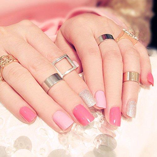 Buy Generic 24pcs/box nails tips pre design pink False Nails