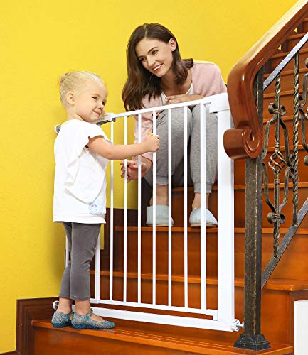 Baby Gates for Stairs and Doorways Dog Gates for The House, 30-40.5 inches – Indoor Safety Gates for Kids or Pets with…