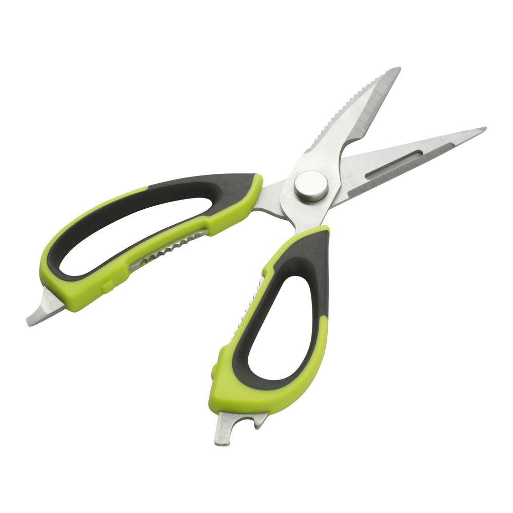 7-in-1 Multipurpose Kitchen Shears - Commercial Grade - Comfort Grip - Perfect for Restaurants, Catering, and Home Kitchens - Restaurantware