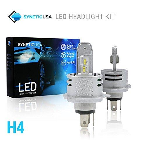 Lumi One Light - 2018 All in One H4 80W 10000LM LUMI-LED Built-In EMC Anti-RFI Headlight DRL Kit Light Bulbs