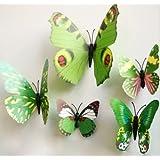 iDealhere - 12 adhesivos murales en forma de mariposa reutilizables para salón o habitación