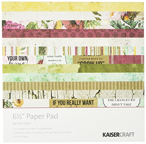Kaisercraft PP943 Paper Pad, 6.5-Inch by 6.5-Inch, Be-YOU-tiful, 40-Pack