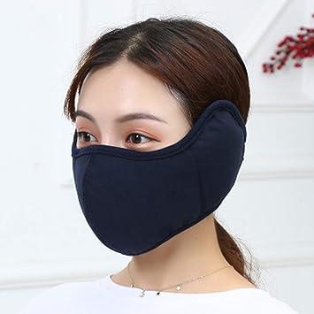 Orejeras que montan máscaras a prueba de viento, algodón de otoño e invierno orejeras frías y cálidas que montan una máscara protectora a prueba de viento-Navy: Amazon.es: Salud y cuidado personal