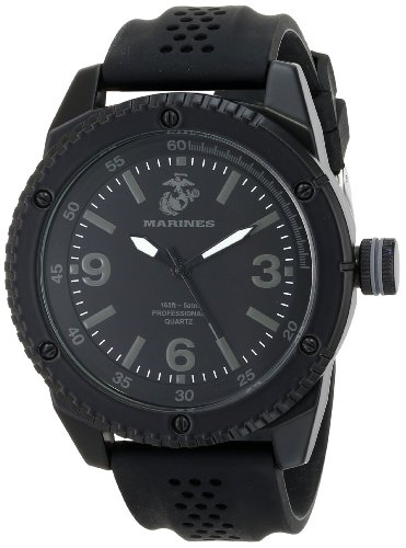 Wrist Armor Mens 37100002 C20 Analog Display Quartz Watch with Black Silicone Strap