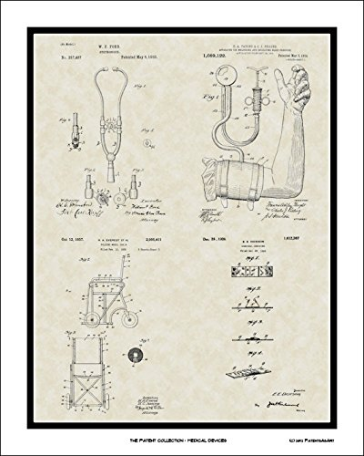 Medical Device Patent Collection Art Print Wall Gift