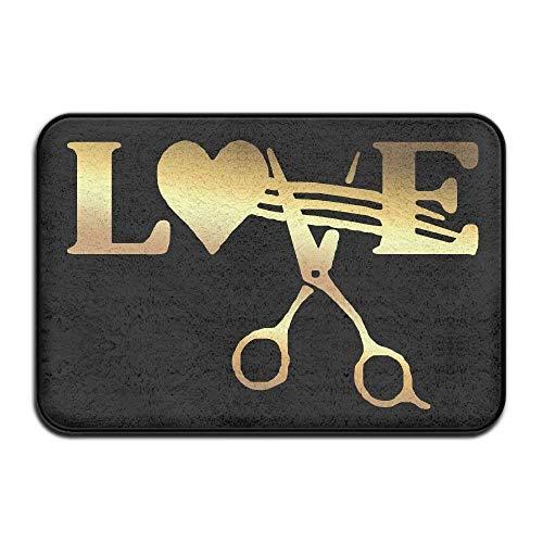 AUUOCC Mortimer Gilbert Stylist Barber Hair Cut Salon Scissor Doormats Entrance Rug Floor Mats Doormats Floor Mat 15.7
