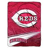 MLB Cincinnati Reds Speed Plush Raschel Throw Blanket, 60x80-Inch