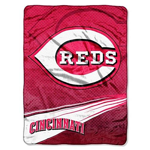 Cincinnati Reds Bedding (MLB Cincinnati Reds Speed Plush Raschel Throw Blanket, 60x80-Inch)