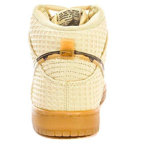 Nike Dunk High Premium Sb Waffle Oro Piatto Classico Marrone