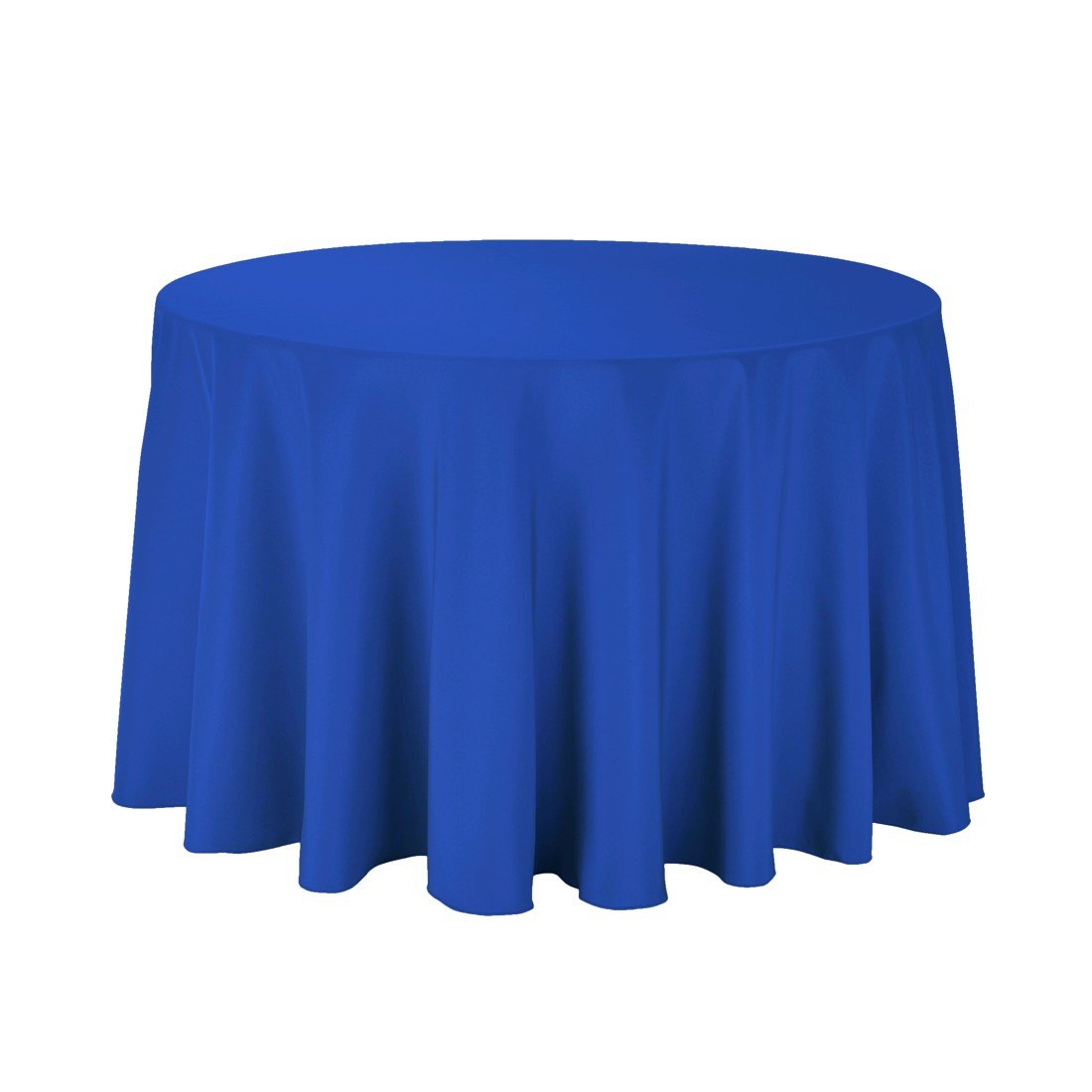 Craft and Party - 10 pcs Round Tablecloth for Home, Party, Wedding or Restaurant Use. (Royal Blue, 108'' Round)