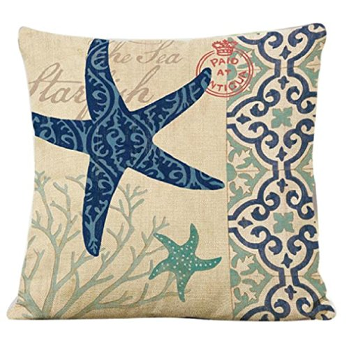Oksale Stripe Linen Pillow Case Sofa Home Waist Throw Cushion