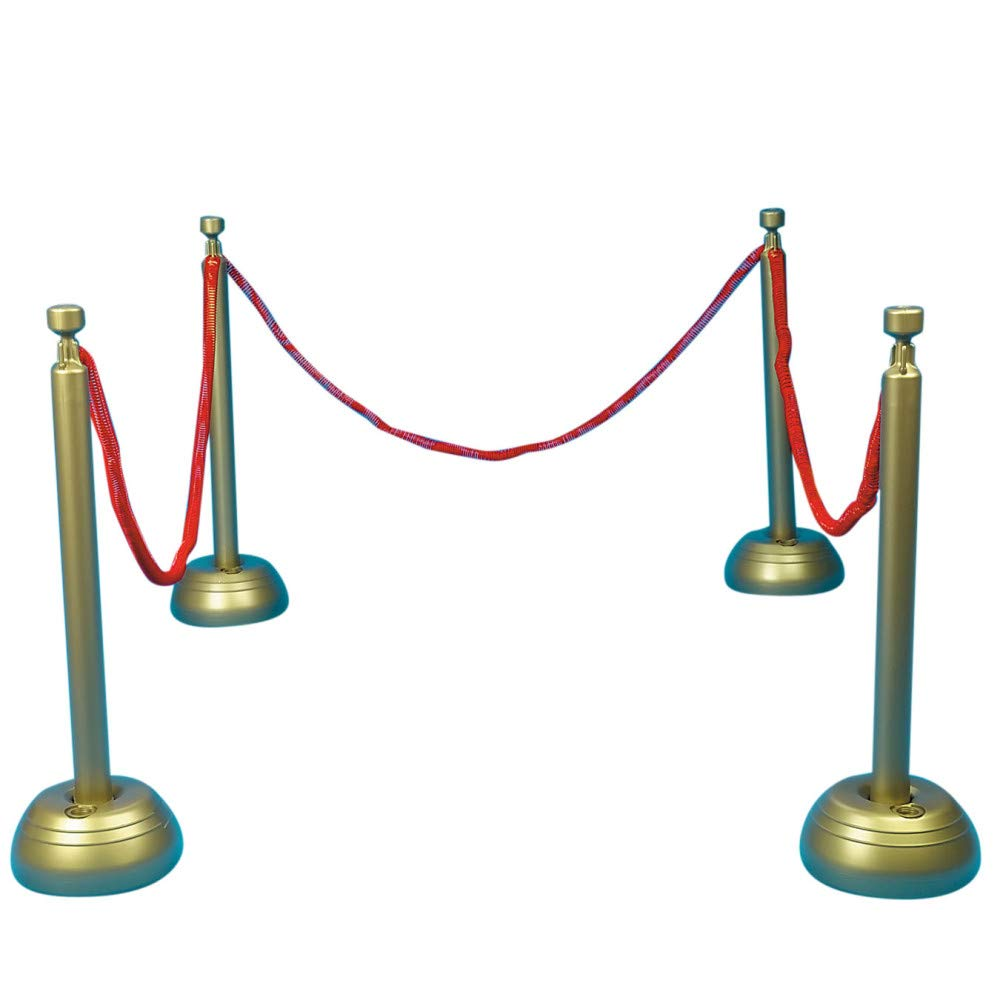 Beistle 57658 Red Rope Stanchion Set Awards Night Decorations, VIP Party by Beistle