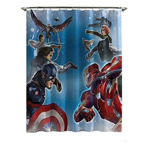 Marvel Captain America Civil War Sides of War Shower Curtain, 72