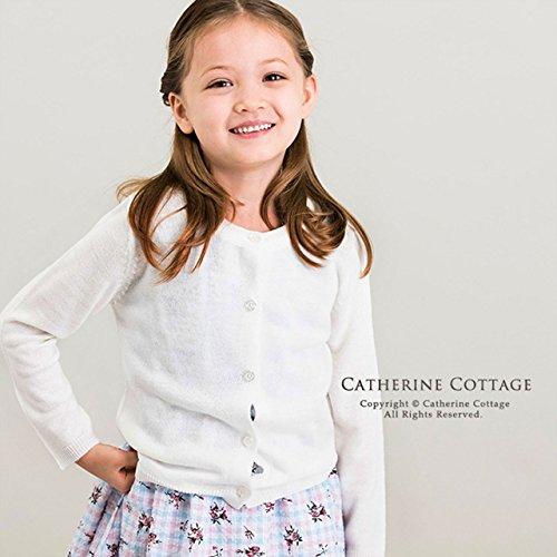 dc383376ef947 (キャサリンコテージ) Catherine Cottage子供服 WY0005 女の子 長袖 ニットカーディガン 無地