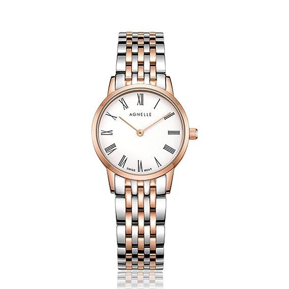 Cuarzo analógico relojes ultrafino de la mujer,Resistente al agua Clásico De lujo Business Casual