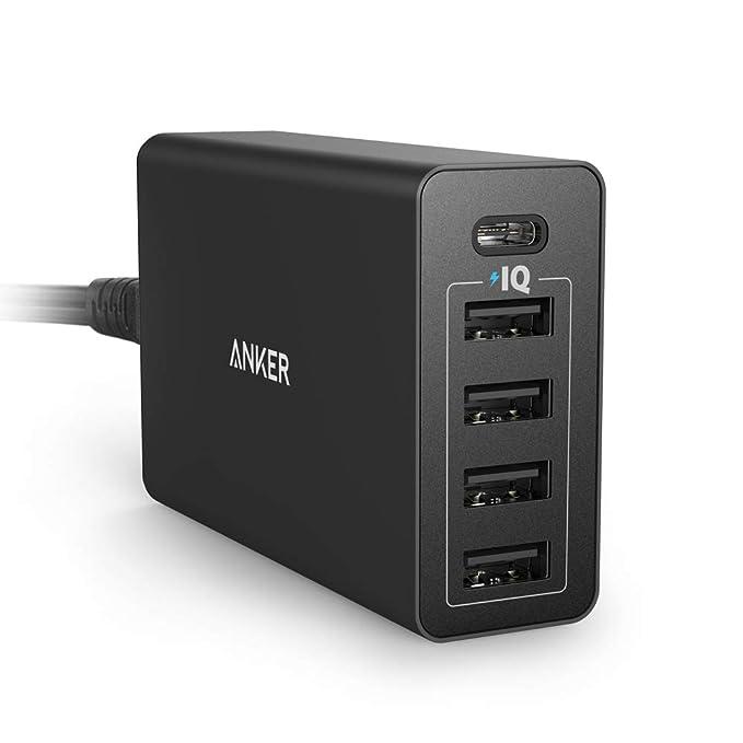 Anker Power port5 USB de c 40 W de 5 Puerto USB C Cargador ...