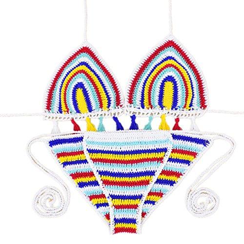 SZH YIBI Las señoras del traje de baño traje de Europa y los Estados Unidos atractivo del traje de baño del bikini de secado rápido de tejer apretado color