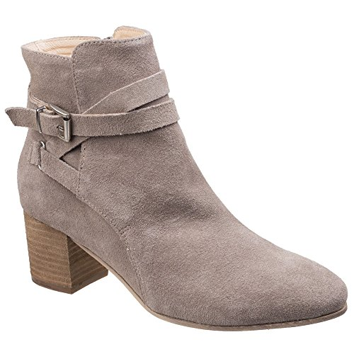 Womens Ladies with Taupe Boot Ankle Arianna Divaz Heels gCxdn5Cq