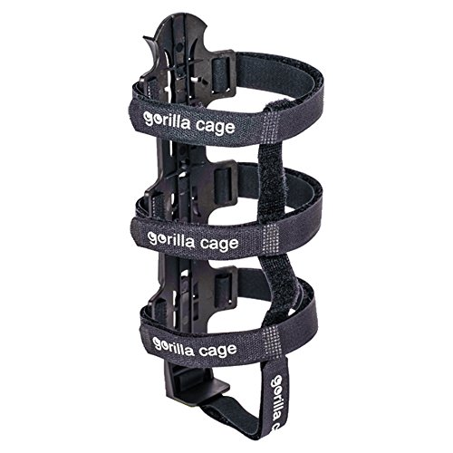 DOM Gorilla Cage - Huge Bike Water Bottle Cage for Bike Packing, Adventure Cycling & Cycle Touring, Black