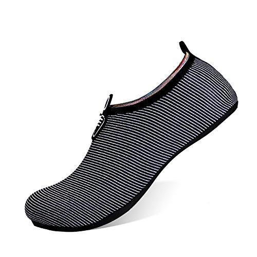 Dry Black Barefoot Men Water Swim Heeta Aqua Shoes Women Shoes Beach Sports Silver Socks for Swim Quick 4RxP0awBxq