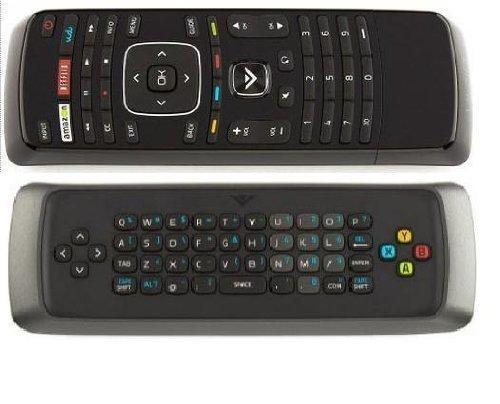 (NEW Vizio Dual side keyboard QWERTY Remote Control XRV1D3 for M420SV M470SV M550SV M420SL M470SL M550SL M370SR M420SR M420KD E551VA M3D650SV M3D550SL M3D470KD M3D550KD; E3D320VX E3D420VX E3D470VX - Vudu-Netflix-Amazon Internet Apps Keyboard)