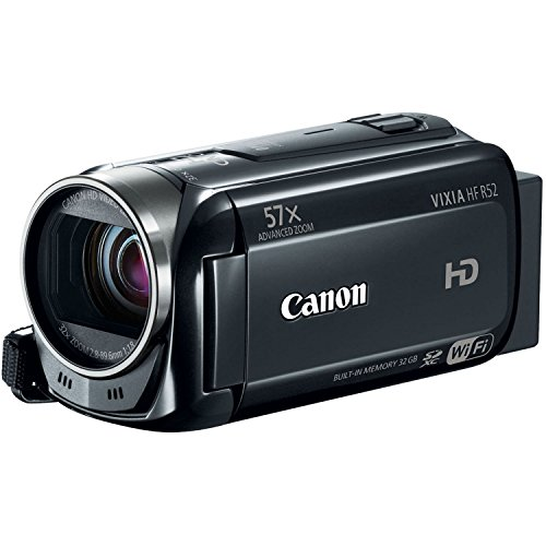 Digital Camcorders Manufacturers - Canon VIXIA HF-R52 HD Digital Camcorder 1080p with 32GB, Wi-Fi, and 3-Inch LCD (Black) (Discontinued by Manufacturer) (Renewed)