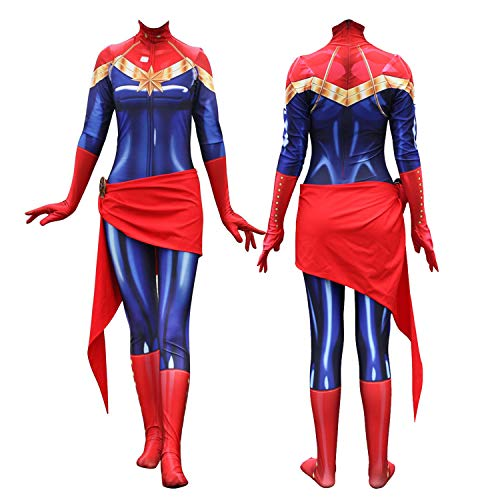 Texmex Cosplay Lady Captain Suit Halloween Costume Spandex Bodysuit Zentai L -