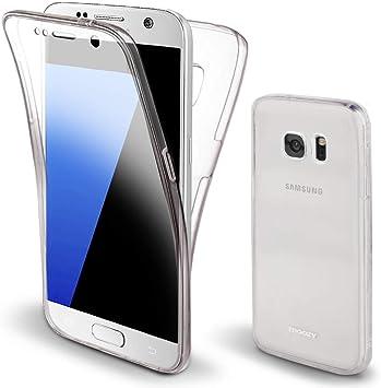 Moozy Funda 360 Grados para Samsung S7 Transparente Silicona ...