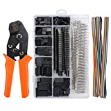 Proster Dupont Crimper SN-28B Ratchet Crimping Tools Dupont Wire Terminal Crimper Set with 1550 Dupont Connectors Male/Female Pin 0.1-1.0mm² for 2.54/3.96mm KF2510 Connector 28-18AWG