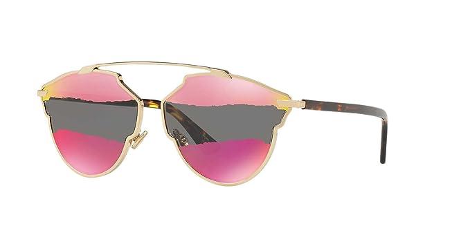 0a8de2caa0d5 Amazon.com  Dior Women CD DIORSOREAL A S 59 Gold Grey Sunglasses ...