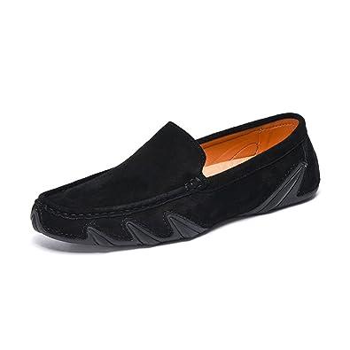 Herren Lederschuh Loafers Slip-Ons Laufschuhe Fauler Schuh Casual Atmungsaktiver Komfort Abgerundete ToeOffice...