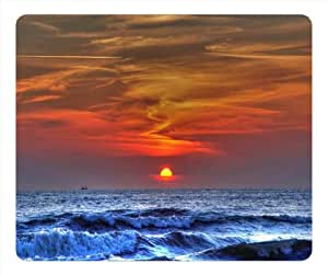 Mouse Pad Oblong Shaped Sunset On The Beach 9