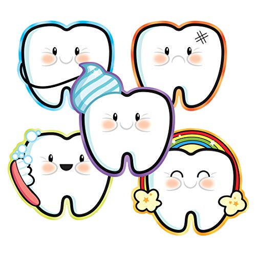 Tooth Emoji Stickers - Prizes 100 per Pack