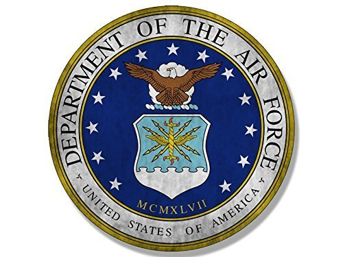 - GHaynes Distributing VINTAGE Round AIR FORCE Seal Sticker Decal (logo old distressed us) 4 x 4 inch